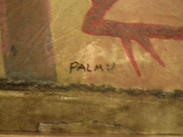 Taulu signeerattu Juhani Palmu