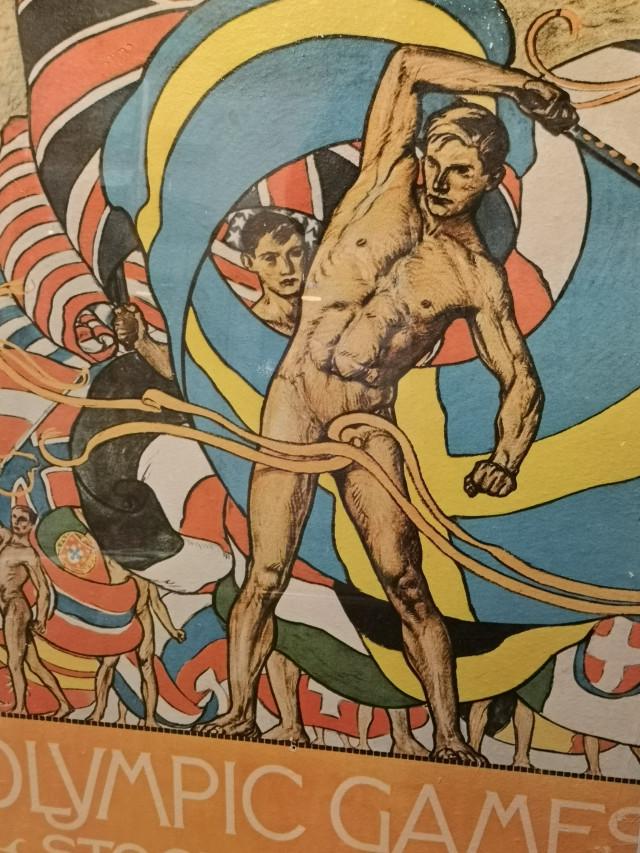 Kehystetty olympiajuliste alkuperäistyön mukaan