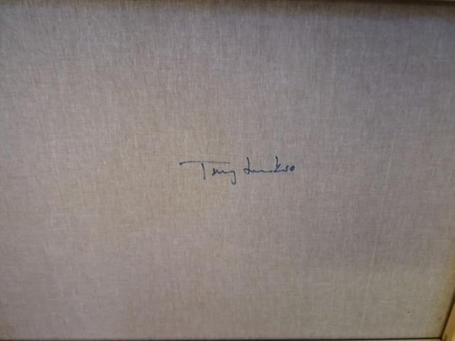 Taulu Terry Laakso signeerattu