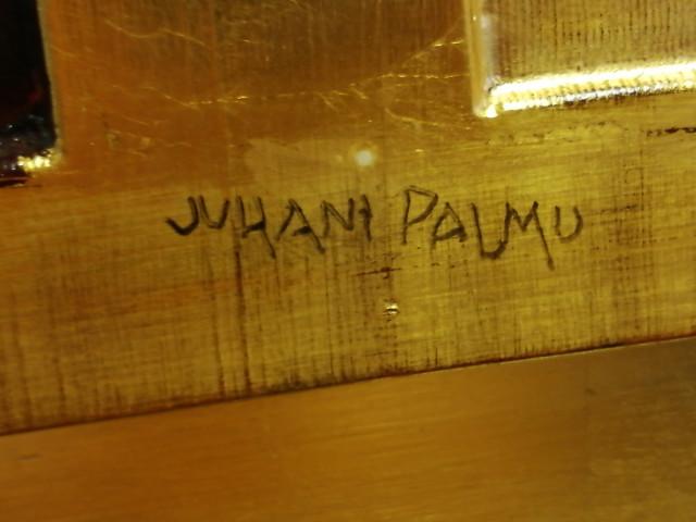Taulu Juhani Palmu signeerattu