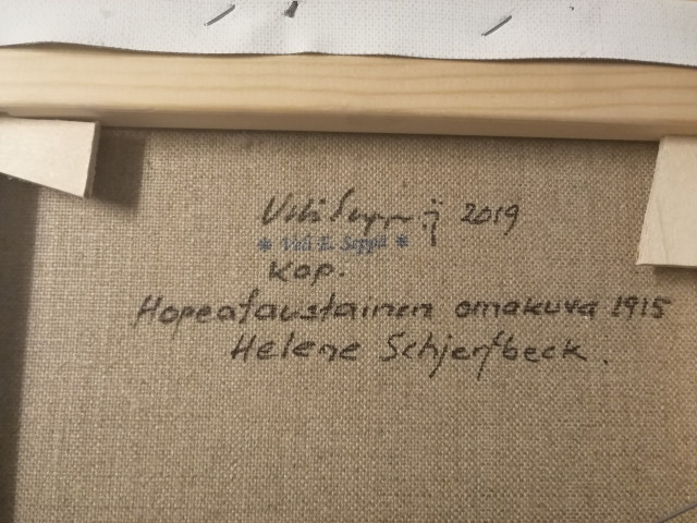 Taulu Veli Seppä signeerattu