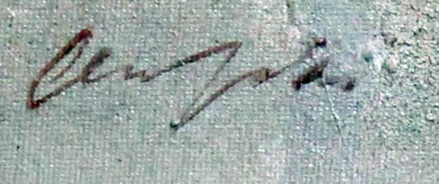 Taulu Olli Joki signeerattu
