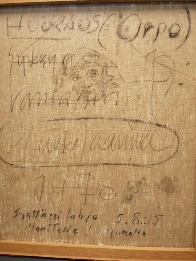 Taulu Jukka Saarinen signeerattu
