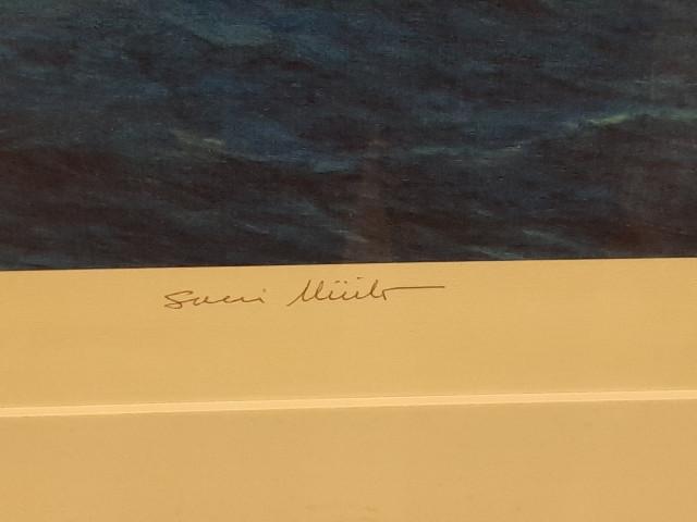 O.Juutilainen sign.painokuva lahja Presidentti Sauli Niinistöltä