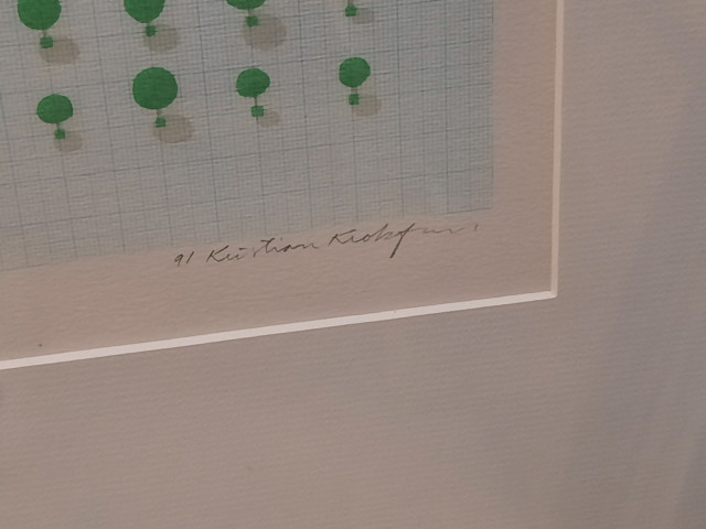Kristian Krokfors serigrafia signeerattu ja numeroitu
