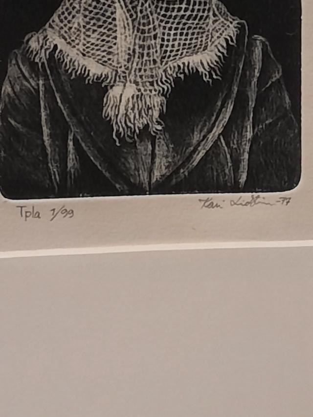 Kari Lindstöm numeroitu ja signeerattu grafiikka