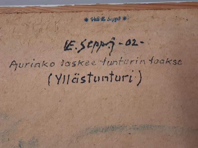 Taulu Veli Seppä signeerattu öljy levylle