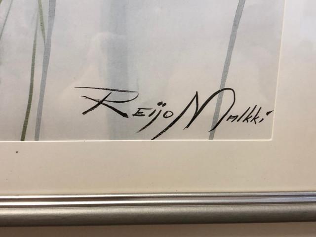 Taulu Reijo Malkki signeerattu