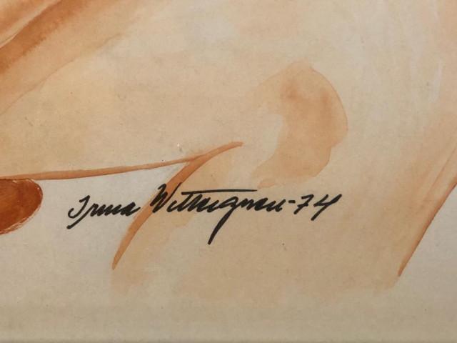 Taulu signeerattu I. W. Alaston