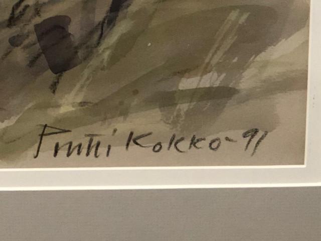 Pentti Kokko signeerattu akvarelli