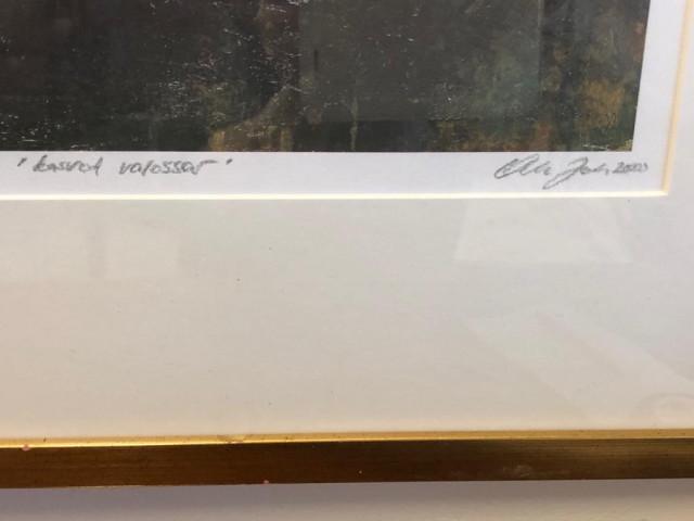 Taulu Olli Joki signerattu