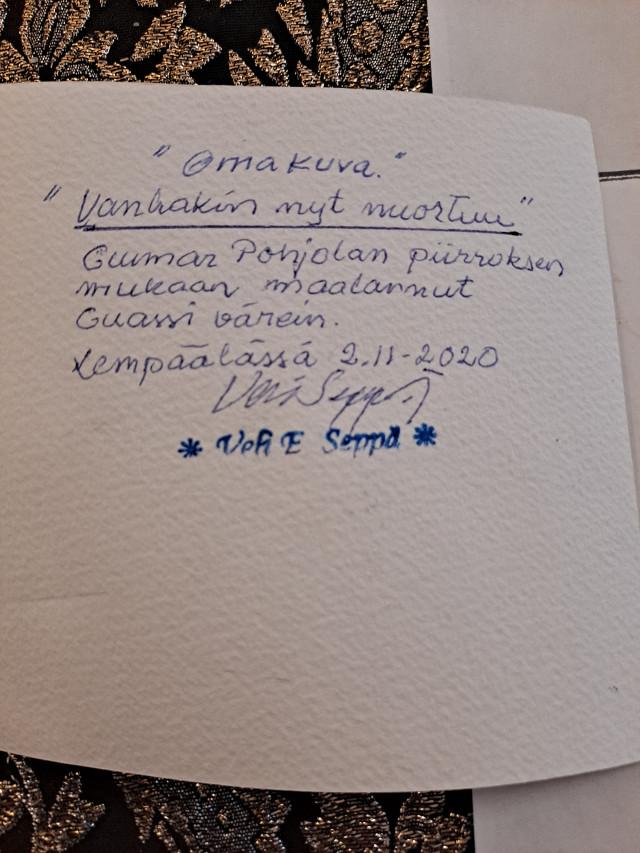 Guassi Veli Seppä signeerattu
