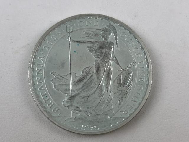 Hopeinen 2 punnan kolikko 2006