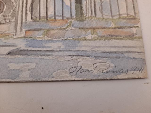 Tauluja 3kpl Roivas sign.Viipuri 1941