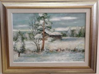 Taulu signeerattu Pertti Pylkkönen
