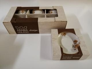 Arabia Myrna 6+6kpl käyttömättömät