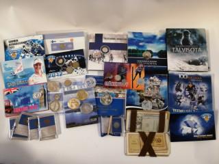Erä Juhlarahoja ja seteleitä