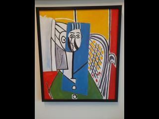 Taulu Veli Seppä signeerattu Picasson mukaan