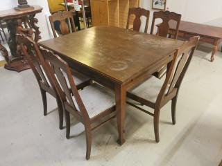 Jugend pöytä + 6 tuolia