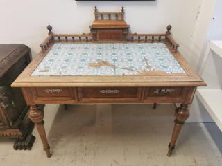 Uusrenessanssi kirjoituspöytä 1800-luku