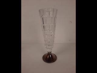 Aimo Okkolin hopeajalkainen Kristallimaljakko