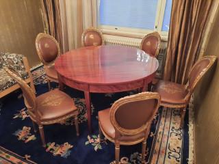 Louis XIV Ruokapöytä ja 6 tuolia