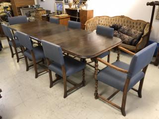 Kierrebarokki Ruokapöytä ja tuolit 8kpl