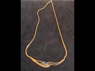 Kultainen Kaulakoru sinisafiiri/kulta
