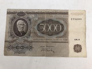 5000 mk seteli