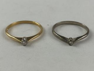 Kultaiset timanttisormukset