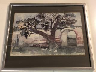 Taulu Olli Joki 1982 akvarelli