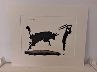 Tussityö Veli Seppä signeerattu Pablo Picasson mukaan