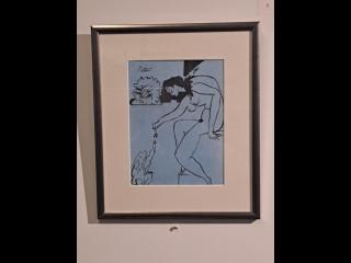 Taulu Veli Seppä signeerattu Pablo Picasson mukaan
