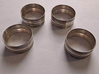 Servettirenkaat Sterling hopea
